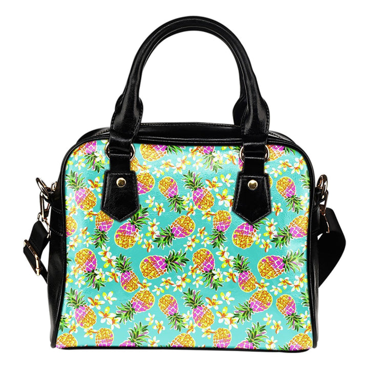 Aloha Summer Pineapple Pattern Print Shoulder Handbag GearFrost