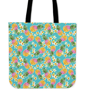 Aloha Summer Pineapple Pattern Print Tote Bag GearFrost