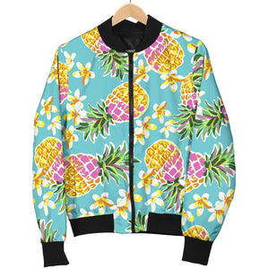 Aloha Summer Pineapple Pattern Print Women's Bomber Jacket GearFrost