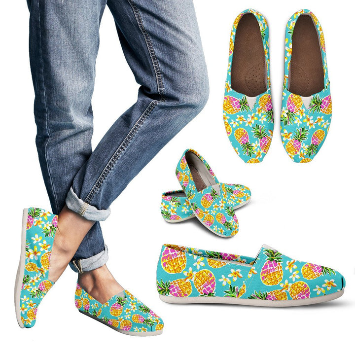 Aloha Summer Pineapple Pattern Print Women's Casual Shoes GearFrost