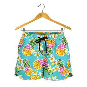 Aloha Summer Pineapple Pattern Print Women's Shorts GearFrost