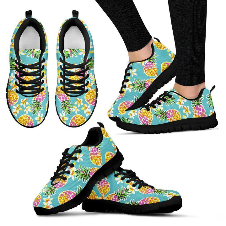 Aloha Summer Pineapple Pattern Print Women's Sneakers GearFrost