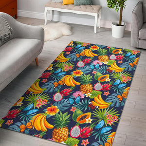Aloha Tropical Fruits Pattern Print Area Rug GearFrost
