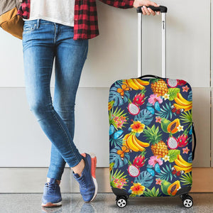 Aloha Tropical Fruits Pattern Print Luggage Cover GearFrost