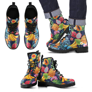 Aloha Tropical Fruits Pattern Print Men's Boots GearFrost