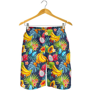 Aloha Tropical Fruits Pattern Print Men's Shorts GearFrost