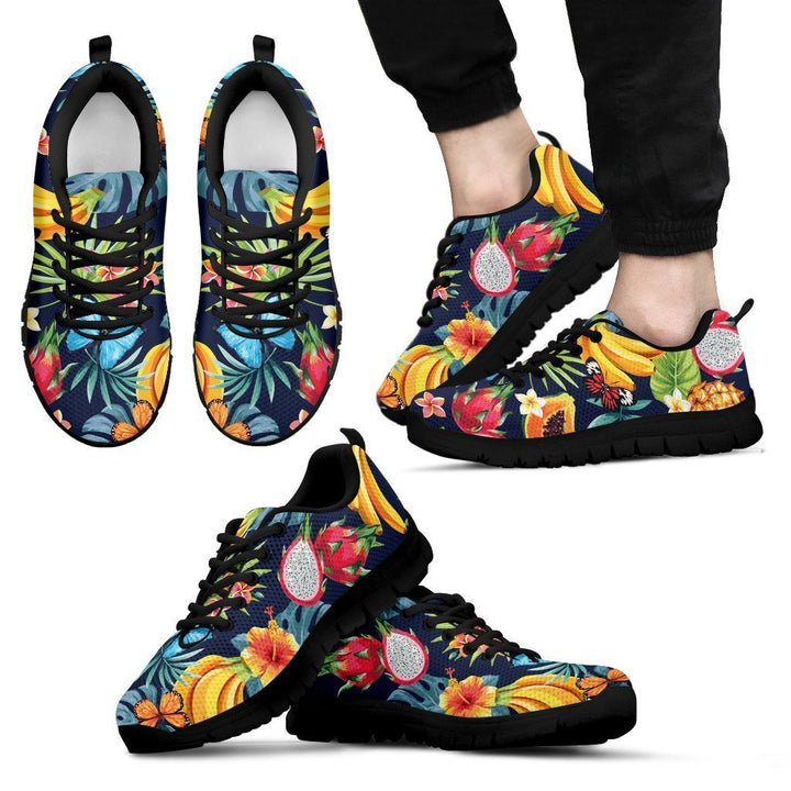 Aloha Tropical Fruits Pattern Print Men's Sneakers GearFrost