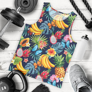 Aloha Tropical Fruits Pattern Print Men's Tank Top GearFrost