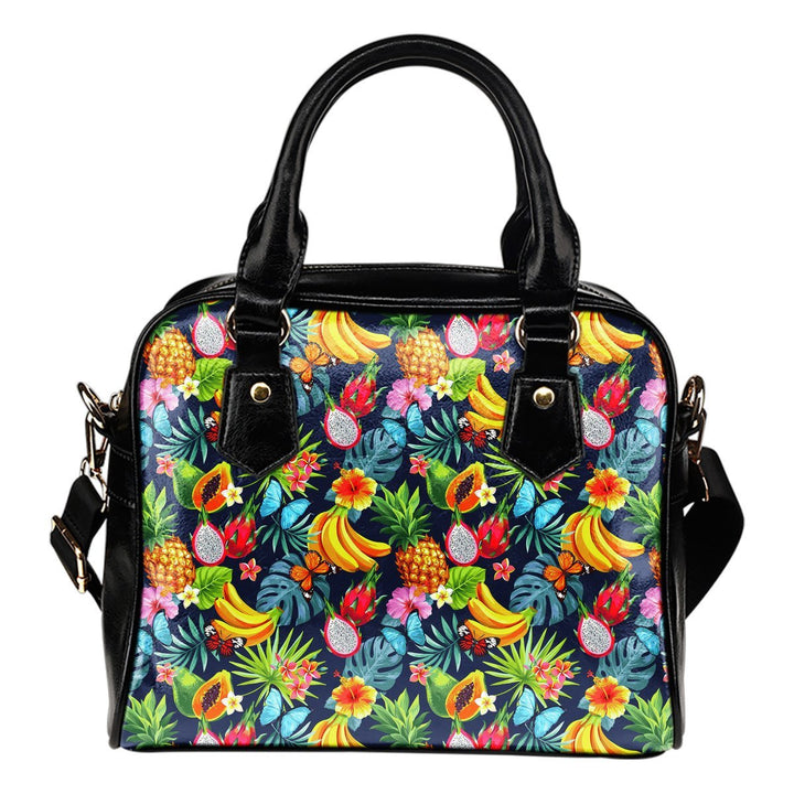 Aloha Tropical Fruits Pattern Print Shoulder Handbag GearFrost