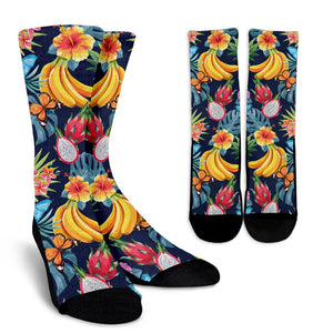 Aloha Tropical Fruits Pattern Print Unisex Crew Socks GearFrost