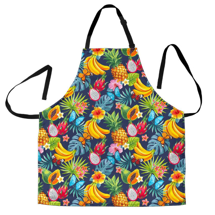 Aloha Tropical Fruits Pattern Print Women's Apron GearFrost