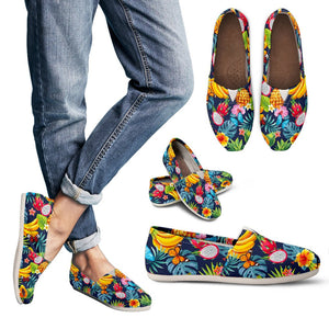 Aloha Tropical Fruits Pattern Print Women's Casual Shoes GearFrost