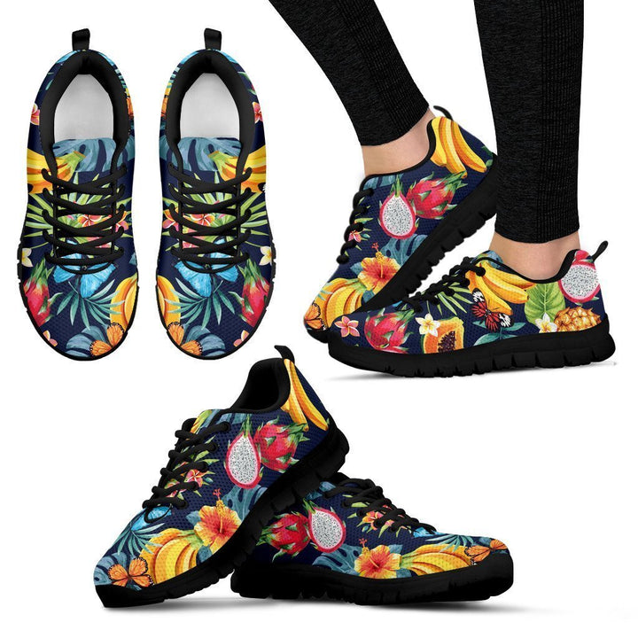 Aloha Tropical Fruits Pattern Print Women's Sneakers GearFrost