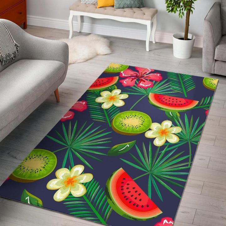 Aloha Tropical Watermelon Pattern Print Area Rug GearFrost