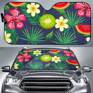 Aloha Tropical Watermelon Pattern Print Car Sun Shade GearFrost