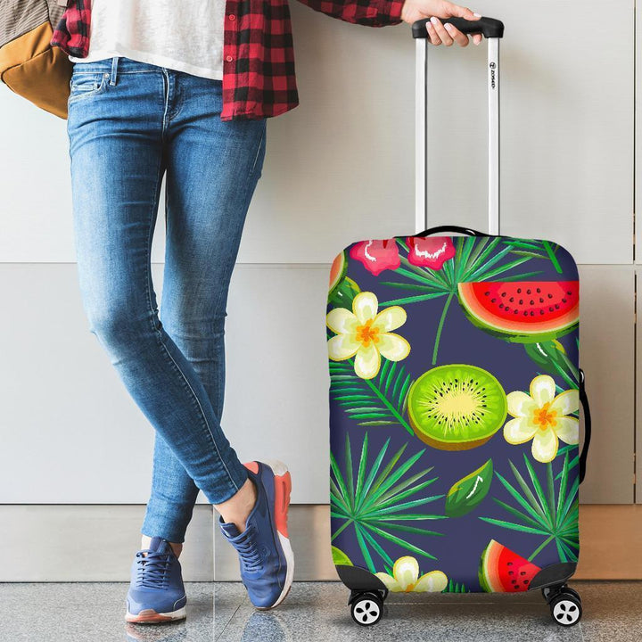 Aloha Tropical Watermelon Pattern Print Luggage Cover GearFrost