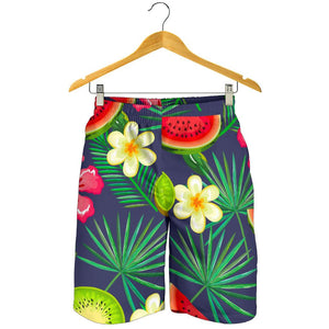 Aloha Tropical Watermelon Pattern Print Men's Shorts GearFrost