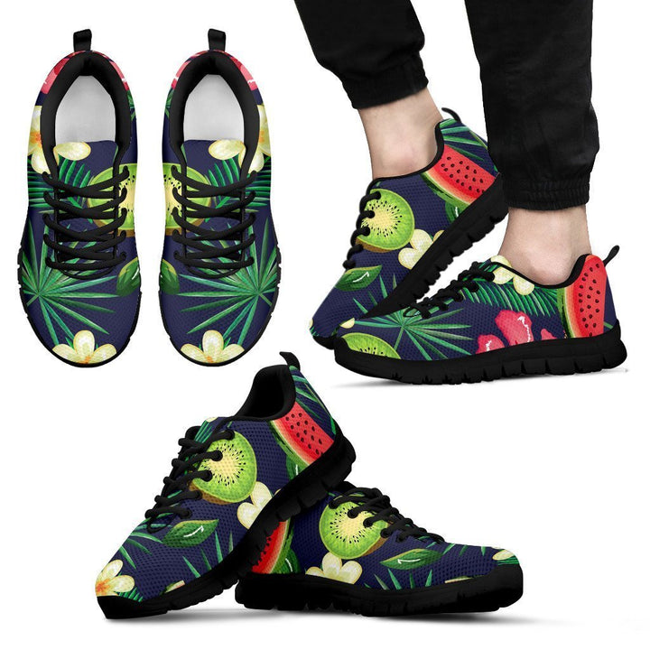 Aloha Tropical Watermelon Pattern Print Men's Sneakers GearFrost
