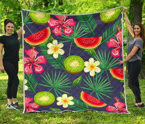 Aloha Tropical Watermelon Pattern Print Quilt GearFrost