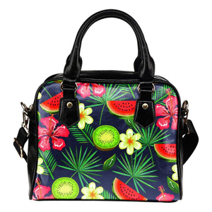 Aloha Tropical Watermelon Pattern Print Shoulder Handbag GearFrost