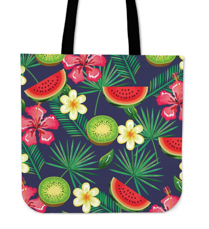Aloha Tropical Watermelon Pattern Print Tote Bag GearFrost
