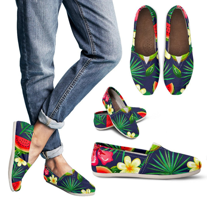 Aloha Tropical Watermelon Pattern Print Women's Casual Shoes GearFrost