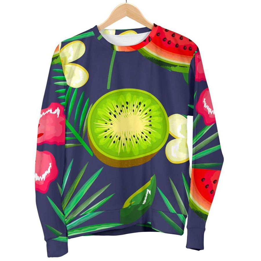 Aloha Tropical Watermelon Pattern Print Women's Crewneck Sweatshirt GearFrost