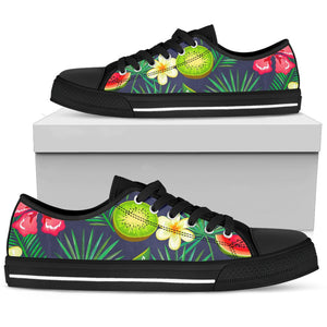 Aloha Tropical Watermelon Pattern Print Women's Low Top Shoes GearFrost