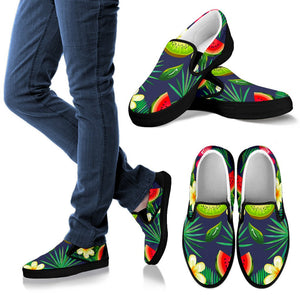 Aloha Tropical Watermelon Pattern Print Women's Slip On Shoes GearFrost