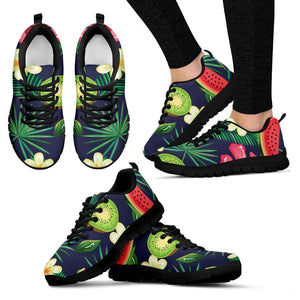 Aloha Tropical Watermelon Pattern Print Women's Sneakers GearFrost