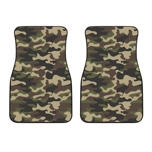 Army Green Camouflage Print Front Car Floor Mats GearFrost