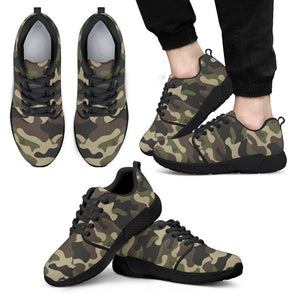 Army Green Camouflage Print Men's Athletic Shoes GearFrost