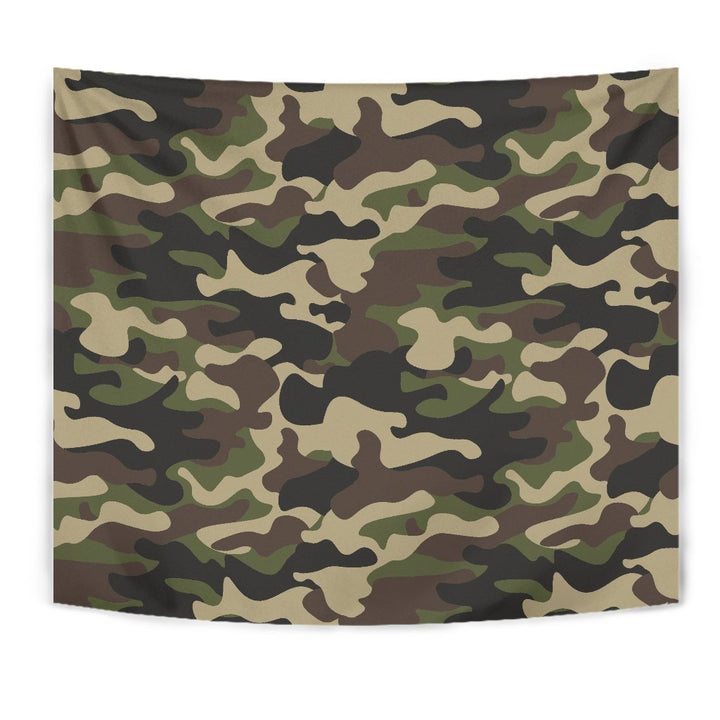 Army Green Camouflage Print Wall Tapestry GearFrost