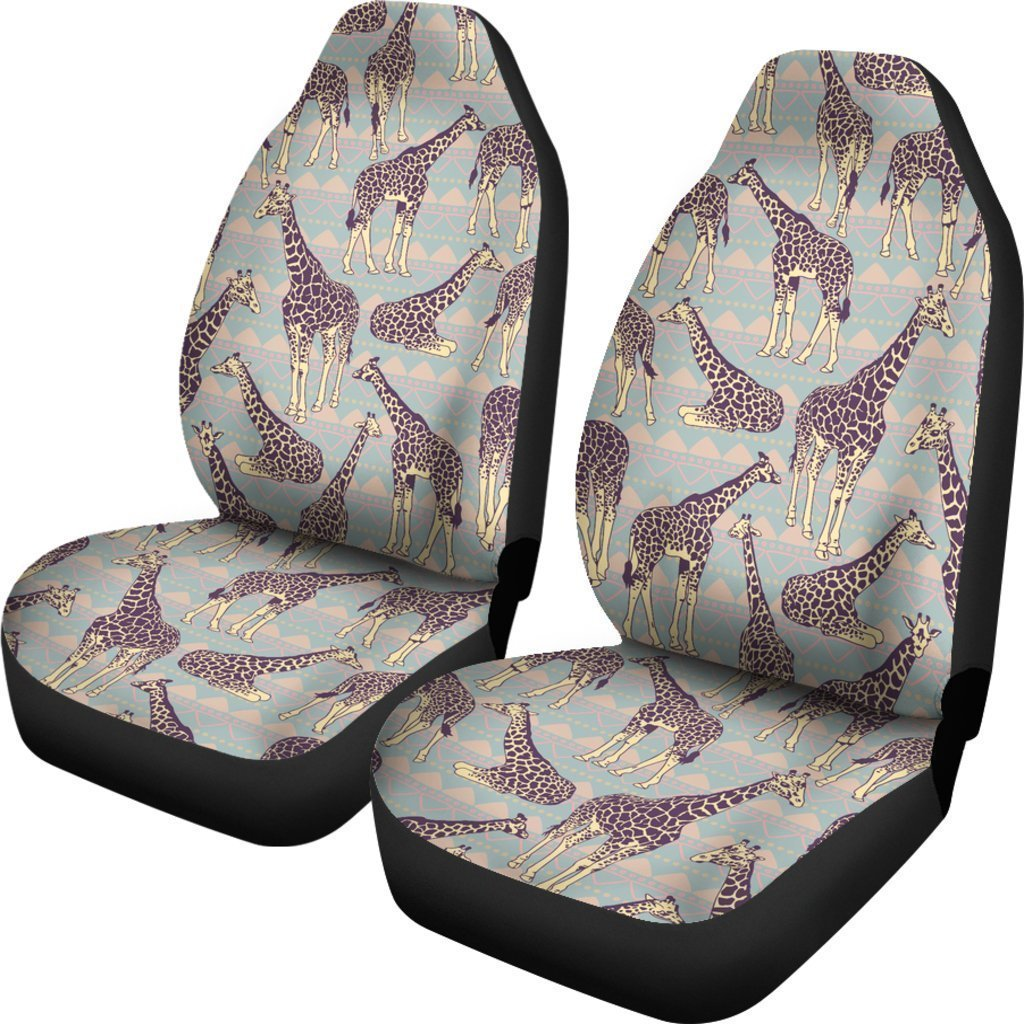 Excellent Aztec Giraffe Pattern Print Universal Fit Car Seat Covers Alphanode Cool Chair Designs And Ideas Alphanodeonline
