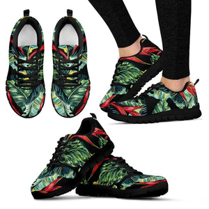 Banana Leaf Hawaiian Pattern Print Women's Sneakers GearFrost