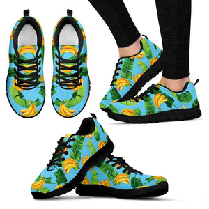 Banana Leaf Pattern Print Women's Sneakers GearFrost