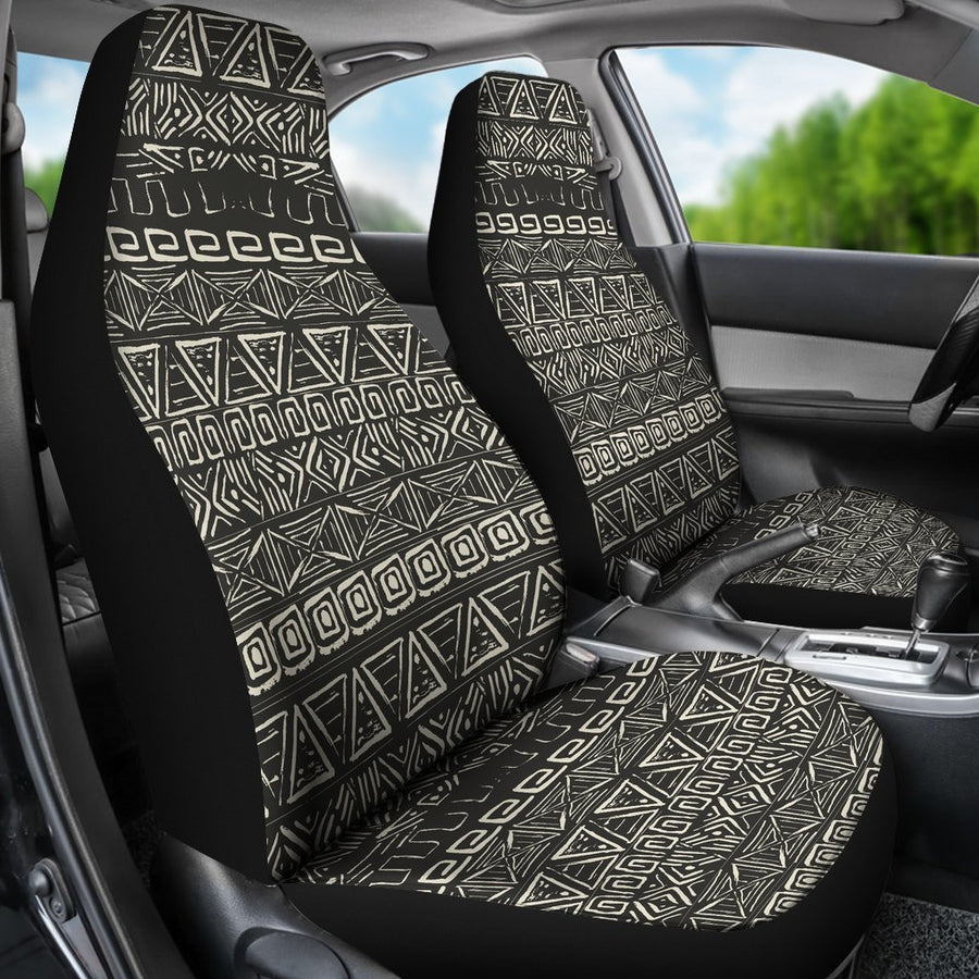 Beige Aztec Pattern Print Universal Fit Car Seat Covers GearFrost