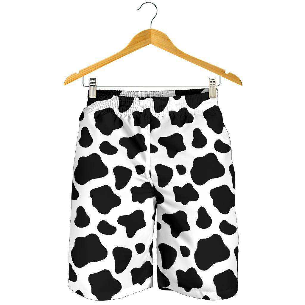 Black And White Cow Print Men's Shorts GearFrost