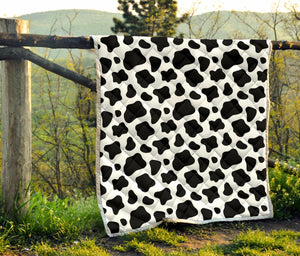 Black And White Cow Print Quilt GearFrost