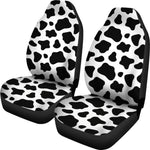 Black And White Cow Print Universal Fit Car Seat Covers GearFrost