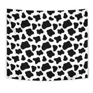 Black And White Cow Print Wall Tapestry GearFrost