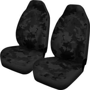 Black Camouflage Print Universal Fit Car Seat Covers GearFrost