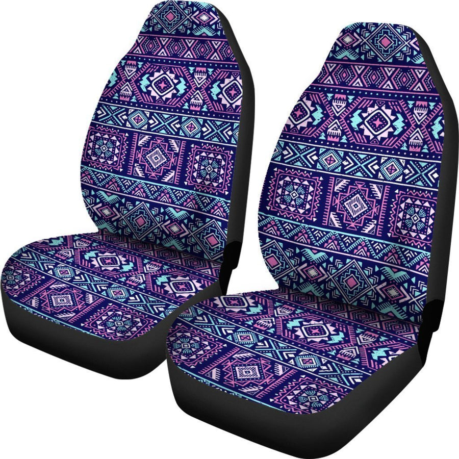 Blue And Pink Aztec Pattern Print Universal Fit Car Seat Covers GearFrost