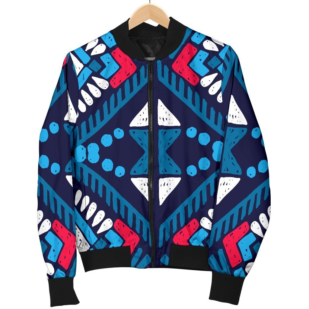 fe467d651 Blue And Red Aztec Pattern Print Men's Bomber Jacket – GearFrost