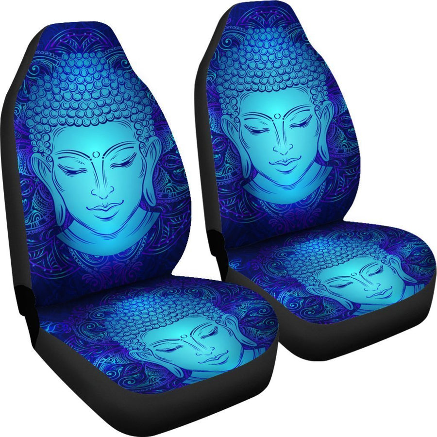 Blue Buddha Print Universal Fit Car Seat Covers GearFrost
