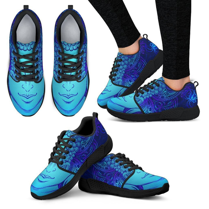 Blue Buddha Print Women's Athletic Shoes GearFrost