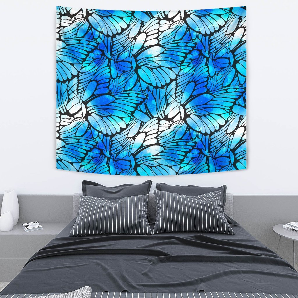 8c5050e45 Blue Butterfly Wings Pattern Print Wall Tapestry GearFrost. Product image 1  ...