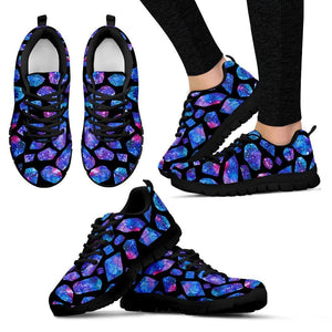 Blue Crystal Cosmic Galaxy Space Print Women's Sneakers GearFrost