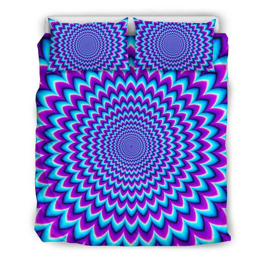 Blue Expansion Moving Optical Illusion Duvet Cover Bedding Set GearFrost