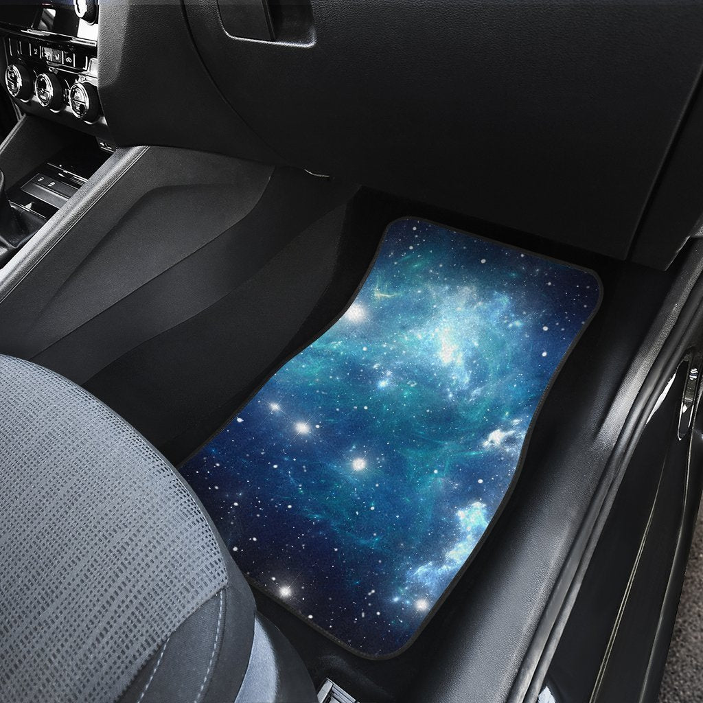 Awesome Blue Light Sparkle Galaxy Space Print Front Car Floor Mats Uwap Interior Chair Design Uwaporg
